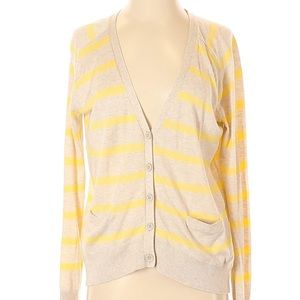 Caslon Nordstrom striped button up knit cardigan